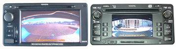 Hilux SR5 Reverse Camera Connected to the Factory Colour LCD Radio