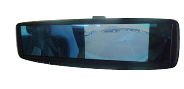 Reverse Camera Connected to Replacement Rear View Mirror